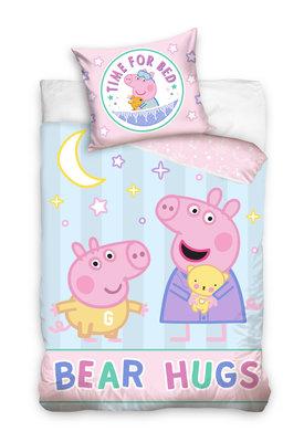 Peppa Pig peuter dekbedovertrek 100x135cm Bear Hugs