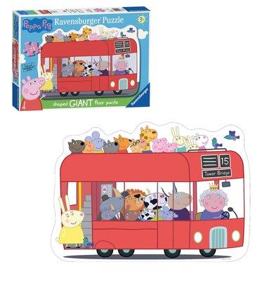 Peppa Pig XL vloerpuzzel 49x69cm The bus