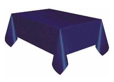 Tafelkleed unikleur blauw plastic 137x274cm