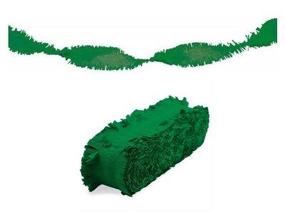 Crepe slinger unikleur groen 24 meter