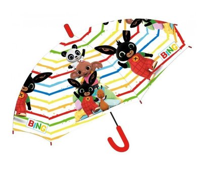 Bing het konijn paraplu transparant
