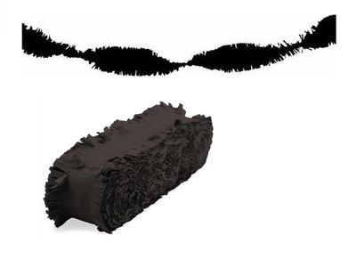 Crepe slinger unikleur zwart 24 meter