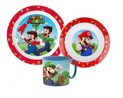 Super Mario kinderservies 3-delig