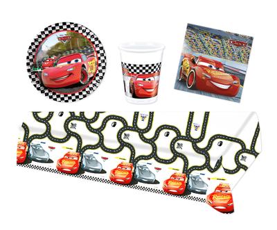Disney Cars feestpakket - voordeelpakket 8 personen Finish