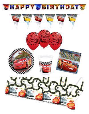 Disney Cars feestpakket Deluxe - pakket voor 8 personen Finish