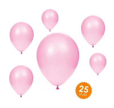 Ballonnen 30 centimeter unikleur roze - 25 stuks