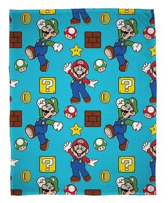Super Mario fleece deken 100x150cm