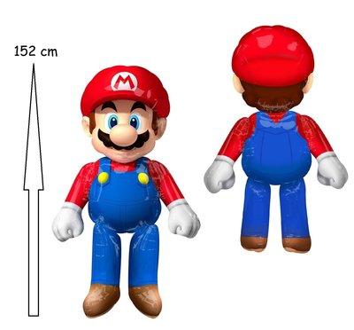 Super Mario Airwalker folie ballon 152cm groot