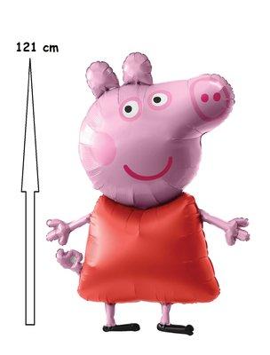 Peppa Pig Airwalker folie ballon 121 cm groot
