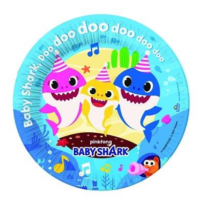 Baby Shark gebak bordjes