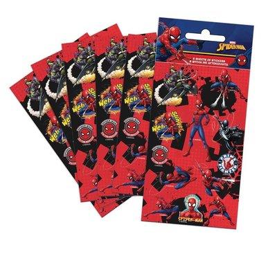Spiderman stickervellen set van 6