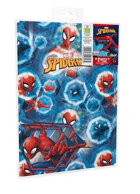 Spiderman cadeau papier met kaartjes