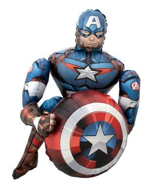 Captain America Airwalker folie ballon 99cm groot