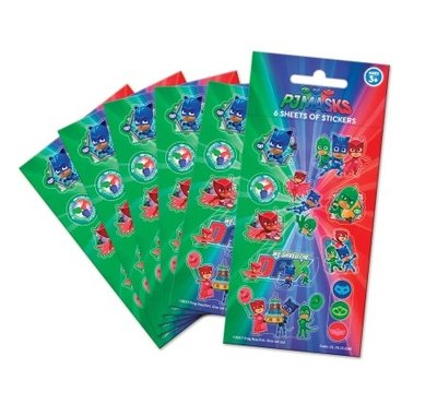 PJ Masks stickervellen set van 6