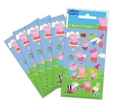 Peppa Pig stickervellen set van 6