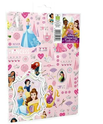 Disney Princess cadeau papier met kaartjes