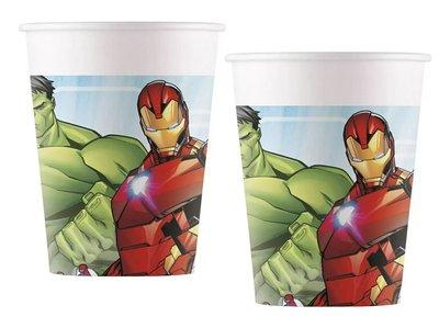 The Avengers party bekers karton