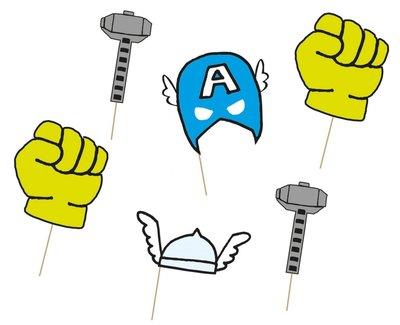 The Avengers fotoshoot accessoires set