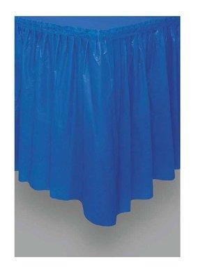 Tafelrok unikleur blauw plastic 426cm lang