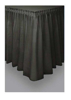 Tafelrok unikleur zwart plastic 426cm lang