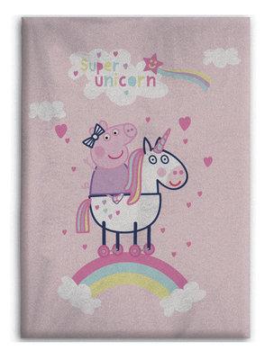 Peppa Pig fleece deken Unicorn