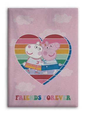 Peppa Pig fleece deken Forever Friends