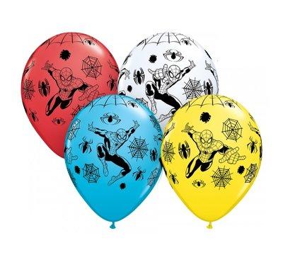 Spiderman feest ballonnen zak van 25 stuks