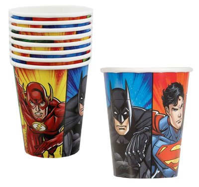 Justice League party bekers