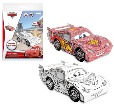 Disney Cars Mc Queen 3D creatief kleur set