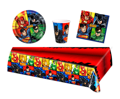 Justice League feestpakket - voordeelpakket 8 personen