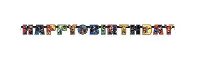 Justice League HAPPY BIRTHDAY slinger 190cm