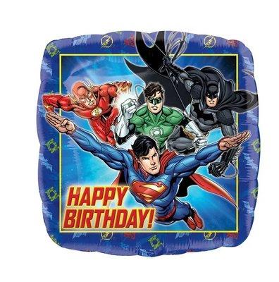 Justice League folie ballon Happy Birthday