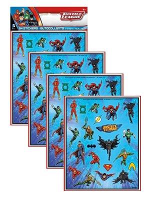 Justice League stickervellen set van 4