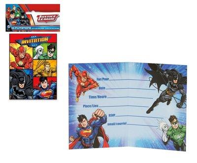 Justice League uitnodigingen