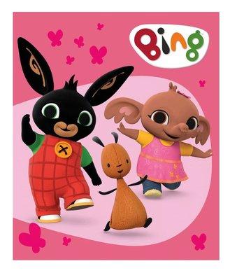 Bing het konijn fleece deken roze