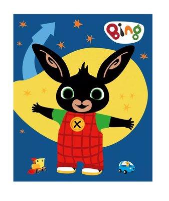 Bing het konijn fleece deken blauw