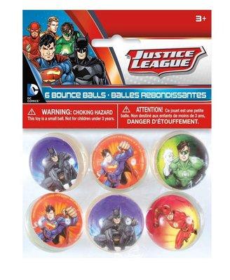 Justice League stuiterballen - uitdeelcadeautje set van 6 stuks