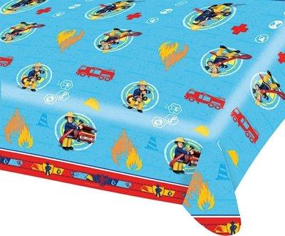 Brandweerman Sam plastic tafelkleed 180x120cm