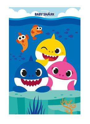 Baby Shark fleece deken - plaid