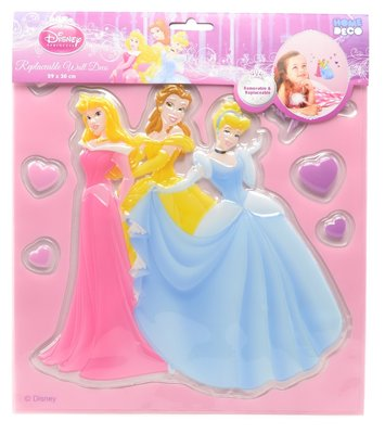 Disney Princess 3D muur decoratie set medium