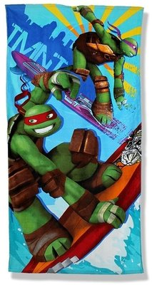 Teenage Mutant Ninja Turtles badlaken - strandlaken surfing