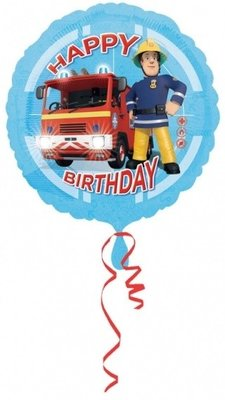Brandweerman Sam Happy Birthday folie ballon