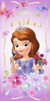 Sofia het Prinsesje badlaken - strandlaken Flowers