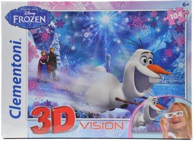 Disney Frozen Olaf puzzel in 3D met 3D bril