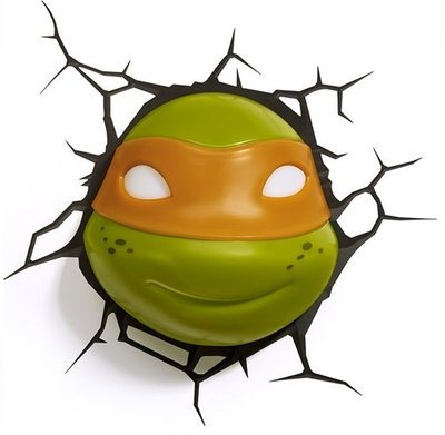 Teenage Mutant Ninja Turtles Michelangelo 3D wandlamp