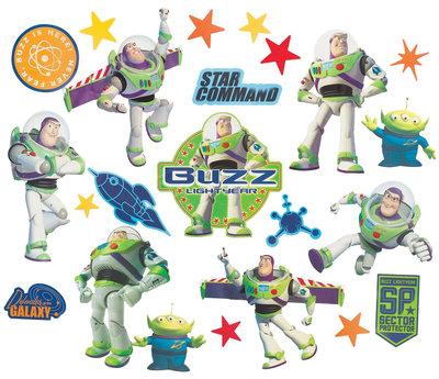 Disney Toy Story wanddecoratie muurstickers Buzz