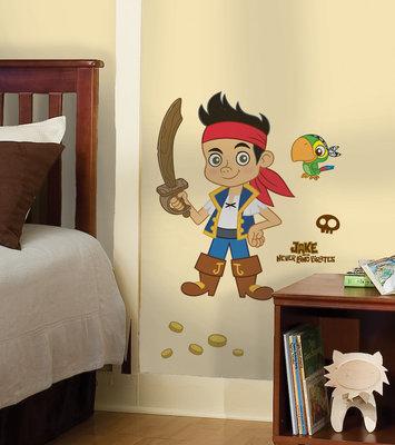 Disney Jake en de nooitgedachtland piraten XL muursticker Jake
