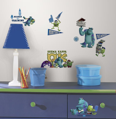 Monsters University 20 delig wanddecoratie muurstickers set