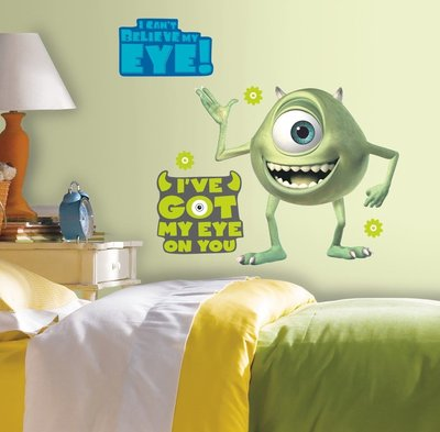 Monsters University XL wanddecoratie muursticker