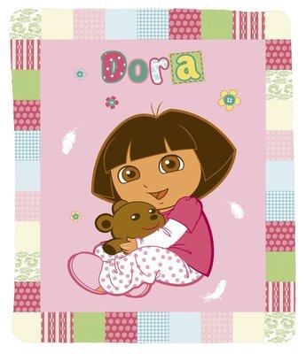 Dora Explorer fleece deken buttons